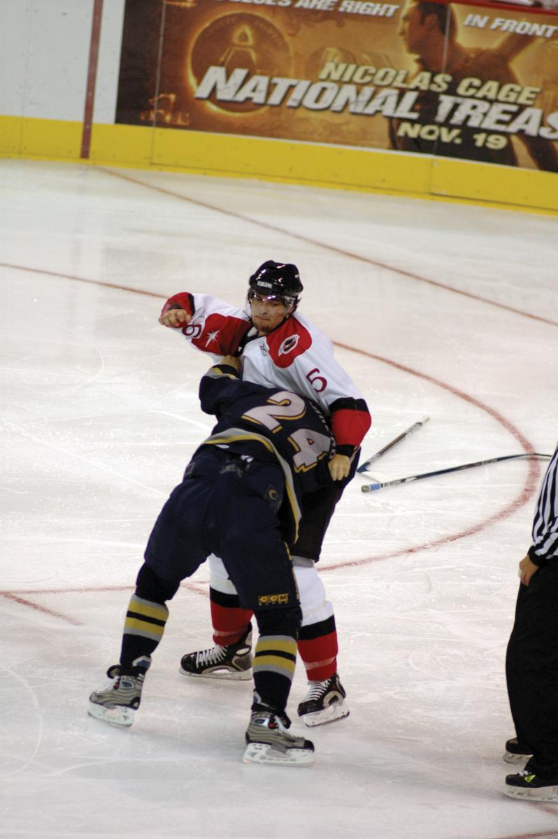 Engelland honed his enforcement skills with the Las Vegas Wranglers.