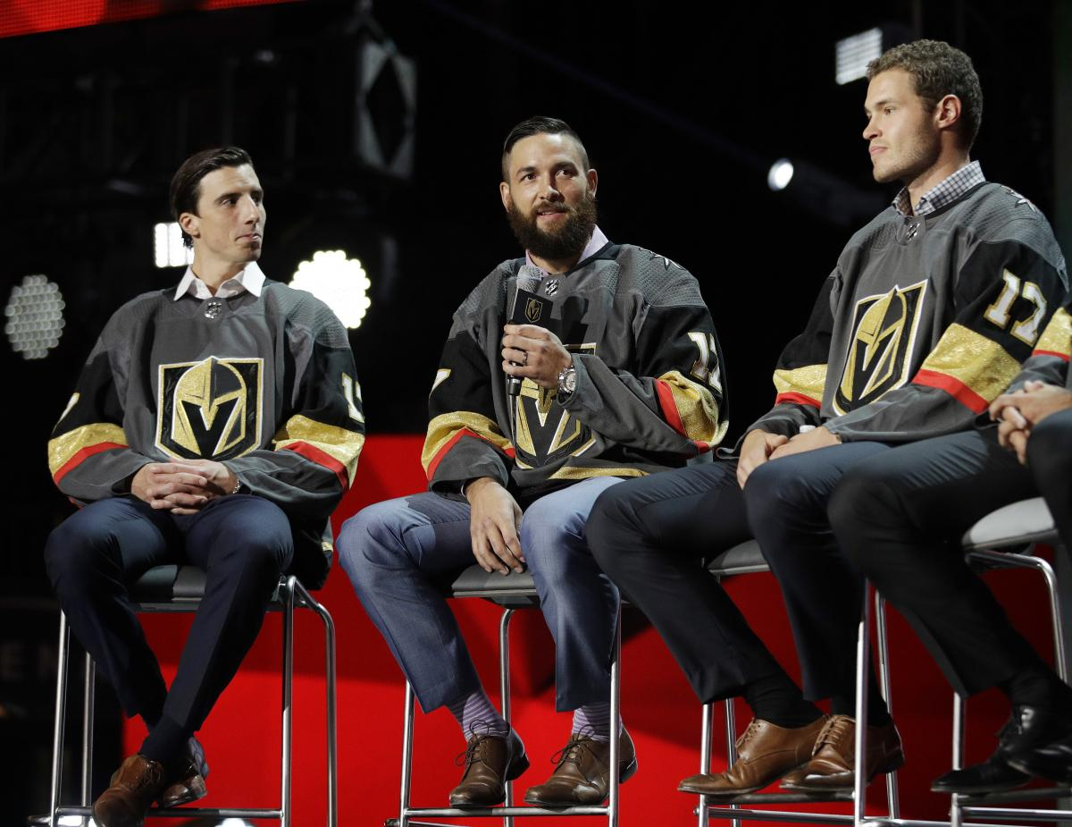 On expansion-draft day, new Knights Marc-Andre Fleury, Engelland, and Brayden McNabb take the stage in LV.
